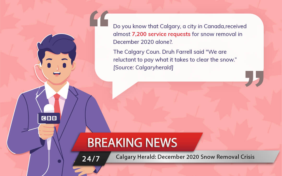 Calgary Snow removal issue December 2020